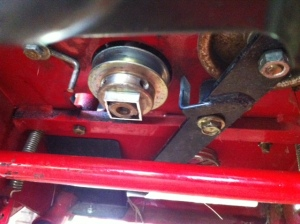 mower shaft with spacer